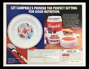 1983 Campbell's Official Winter Olympics Soup Circular Coupon Advertisement