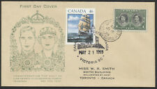 1939 #246 1c Royal Vist FDC, Miss WR Smith Cachet, #1779 Affixed Victoria BC