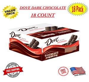 Dove Dark Chocolate Singles Size Candy Bar Bulk 1.44-Ounce Bar 18-Count Box