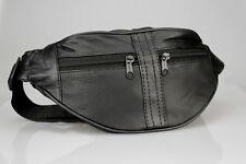 Hermoso Cuero Bolsa de cinturón, Riñonera, Riñonera negro