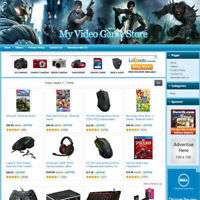 VIDEO GAME STORE - Affiliate Online Business Website For Sale! Free Domain Name!