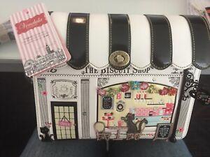 VENDULA LONDON 2018 : sac à main «boîte» mod BISCUI SHOP,  étiqueté 180€ RARE !