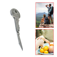 1x Stainless Steel Peeler Key Shaped EDC Knife Folding Blade Outdoor Pocket Tool