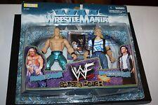 WWE/WWF JAKKS WRESTLEMANIA XV GRUDGE MATCH HHH & SIGNED SHAWN MICHAELS AUTO RARE