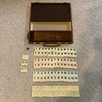 Vintage rummy deluxe tile game in case AS IS please read