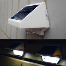 4 Led Solar Powered Security White Light Outdoor Garden Wall Fence Gutter Lamp