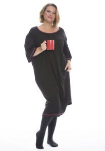 100% Combed Cotton Plus-Size lounger Nightdress Long Nightie XXXL Extra Large
