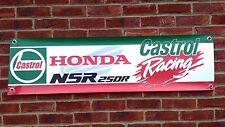 BR7 CASTROL HONDA RACING Banner NSR250 Retrò Classico Race Garage Officina Segno