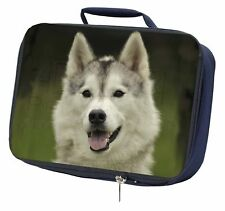 More details for siberian husky dog navy insulated school lunch box bag, ad-h65lbn