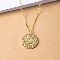 A04 Anhänger mit Kette Silber 925 vergoldet Stil A Nachbildung alte Münze