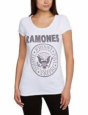 Ramones 'Logo' T-Shirt (of White) - Amplified Clothing - NEW & OFFICIAL! Medium