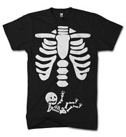 Halloween Skeleton Baby Belly Funny T Shirt Pregnant Fancy Dress Up Costume Boo
