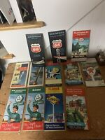 Vintage Lot Of 12 Gas Station Road Maps Texaco Esso Sunoco Cities Services