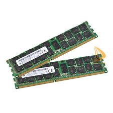 32GB Micron 2x 16GB 2RX4 PC3-12800R DDR3-1600Mhz 1.5V ECC REG Server RAM Memory_