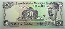 - Très beau billet - NICARAGUA - 50 Cordobas - 1984 - Neuf -