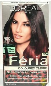 L'Oreal Paris Feria Expert Brush-on Ombre Effect Hair Color, R50 Ombre Red