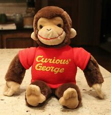 "Vintage CURIOUS GEORGE Monkey Plush 15"" GUND Red Sweater 1940, 1993 Cute"