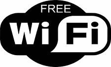 Free WiFi Vinyl Decal Sticker