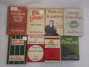 Lot of 8 Ronald Knox WINDOW IN WALL GOSPEL IN SLOW MOTION TRIALS OF A TRANSLATOR