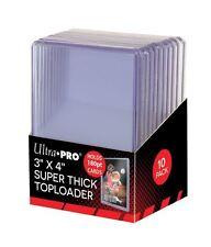 (10) Ultra Pro Super Thick 180pt Toploader Card Holders Jersey Memorabilia Patch