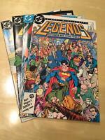 LEGENDS (DC Comics 1986) lot 2 4 5 6 NM- 0370