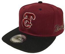 Tomateros De Culiacan Maroon Khaki Letras 2 Logos Hat Maroon Black SnapBack
