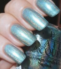 "OPI *RARE* Nail Polish  "" BLUE MOON LAGOON (AUTHENTIC Black Label Holo) "" RARE!!"