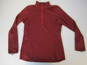 PATAGONIA Capilene Base layer Burgundy Red Half Zip Men's S Small Asia Fit NICE