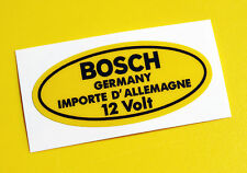 BOSCH 12V Yellow Coil Sticker Decal Vintage PORSCHE 356 911 VW BEETLE T2 Camper