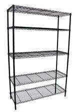 5-Shelf Storage Wire Rack Heavy Duty Steel Organizer Adjustable  36x16x72