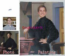 Custom Hand Painted Oil Portrait,Portrait Oil Painting,Your Own Royal Portrait