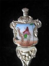 Camel (egypt?) Enameled Silver toned Souvenir Spoon