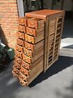 Remington Rand Library Bureau 20 Drawer Cabinet Excellent W/Easy Operating Draws