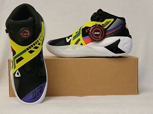Puma Disc Rebirth M 8.5 Athletic Basketball Sneaker Laceless Shoes Black Yellow