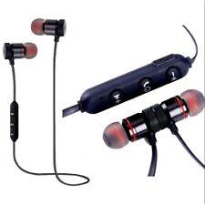 Sports Wireless Bluetooth Ear phones Magnet Microphone Headphone Headset Black