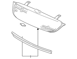 Genuine GM Grille Assembly 10310159