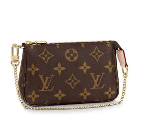 🔥NEW AUTHENTIC LOUIS VUITTON Mini Pochette Chain Wallet Monogram HOT GIFT RARE!