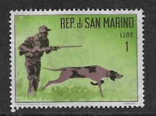 SAN MARINO POSTAL ISSUE - 1962 MINT COMMEMORATIVE STAMP - HUNTING