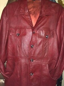 Butterfly Collar Western Jacket Vintage 80s Brown Leather Jacket Big Collar Coat Leather Blazer Leather Coat 70s Style Jacket