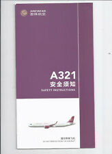 Safety card JUNEYAO AIR Airbus A321