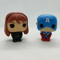 Mini FUNKO POP! Marvel Disney Figures Figurines Captain America Black Widow 1.5""