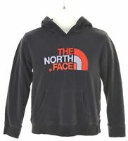 THE NORTH FACE Boys Hoodie Jumper 10-11 Years Medium Black Cotton  JY01