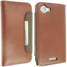 FOR SONY XPERIA L S36H LEATHER CASE COVER FLIP WALLET STYLE SKIN C2104 C2105
