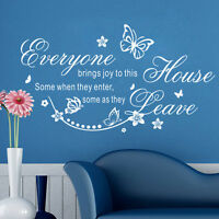 Everyone Brings Joy Removable Quote  Wall Sticker Mural Decor Art Vinyl Decal