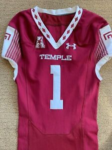 Under Armor Temple Owls Team Issued Game Used Football Jersey