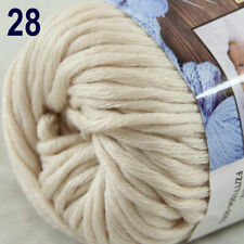 Sale New 1Ball X 50g Soft Worsted Cotton Chunky Hand Knitting Baby Quick Yarn 28
