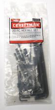 NEW - Craftsman 20PC Hex Allen Key Combo Set 46696 (Inch)