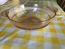 Pink Coronation Fruit/Serving Bowl w/Handles by Anchor -Price Reduced Many Times