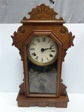 Antique Ansonia Gingerbread Clock *With Key & Pendulum* Works
