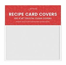 """Jot & Mark Recipe Card Protectors 4"""" x 6"""" Crystal Clear   100 Covers Per Pack"""